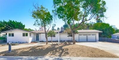 El Cajon Single Family Home For Sale: 1245 Peerless Dr.