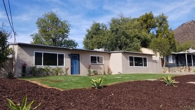 El Cajon Single Family Home For Sale: 1340 Somermont Dr