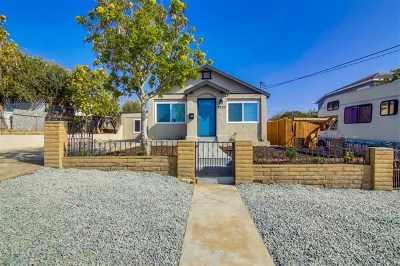 National City Single Family Home For Sale: 2233 I. Ave