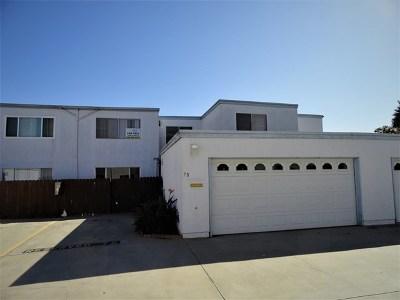 Chula Vista Condo/Townhouse For Sale: 1640 Maple Dr #78