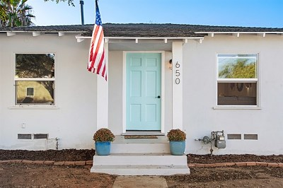 Imperial Beach Single Family Home For Sale: 650 Corvina St