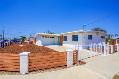 Imperial Beach Single Family Home For Sale: 1210 Hemlock Ave