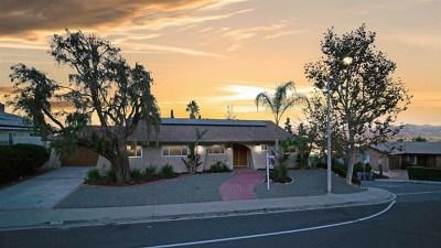 El Cajon Single Family Home For Sale: 1706 Swallow Dr