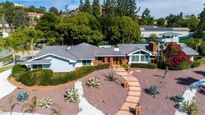 El Cajon Single Family Home For Sale: 1321 Hidden Plateau Court