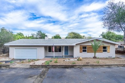El Cajon Single Family Home For Sale: 1771 Grove Rd