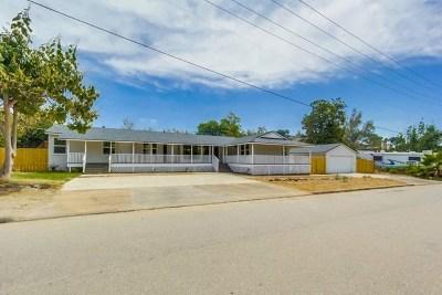 El Cajon Single Family Home For Sale: 997 Sycamore Ln