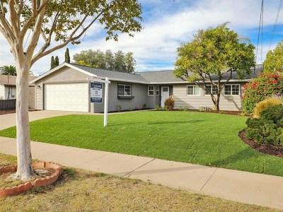 El Cajon Single Family Home For Sale: 1486 Dumar Ave