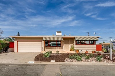 San Diego Single Family Home For Sale: 6550 Estelle Street