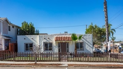 San Diego Single Family Home For Sale: 4294 Winona