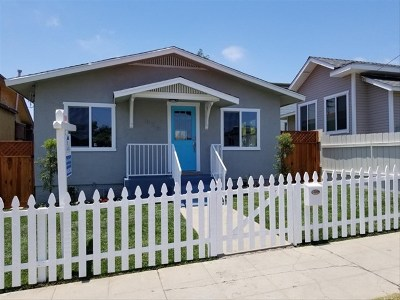 San Diego Single Family Home For Sale: 834 30th St