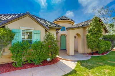 Fallbrook Single Family Home For Sale: 626 Braemar Ter