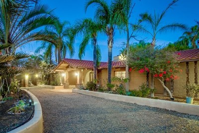 Escondido Single Family Home For Sale: 2860 Sunset Hills