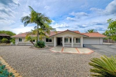 Vista Single Family Home For Sale: 1752 Kent Place