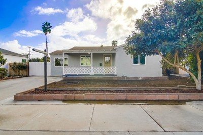 Imperial Beach Single Family Home For Sale: 647 Dahlia Ave