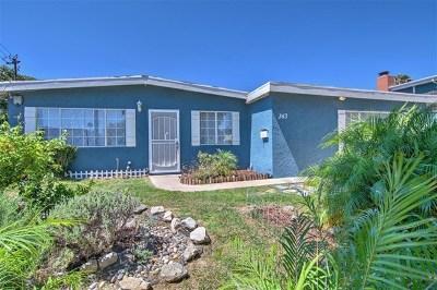 Chula Vista Single Family Home For Sale: 343 Inkopah St