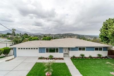 La Mesa Single Family Home For Sale: 10059 Mozelle Ln