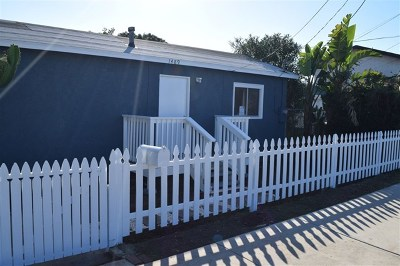 Imperial Beach Multi Family Home For Sale: 1483 Fern