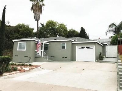 La Mesa Single Family Home For Sale: 4300 70th Street