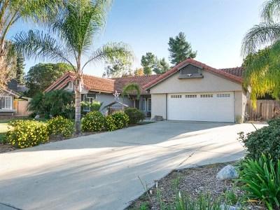 Escondido Single Family Home For Sale: 1758 Macero