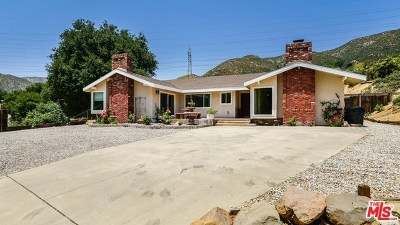Acton, Canyon Country, Castaic, Newhall, Saugus, Stevenson Ranch, Valencia, Agua Dulce, Santa Clarita Single Family Home For Sale: 38705 San Francisquito Canyon Road