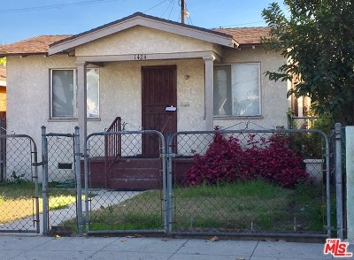Los Angeles Single Family Home Active Under Contract: 1424 W 58th Place