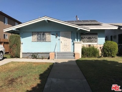 Los Angeles Single Family Home For Sale: 1715 W 53rd Street
