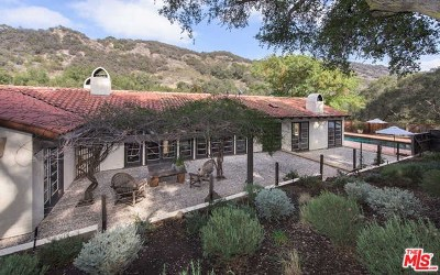 Topanga Single Family Home For Sale: 647 Old Topanga Canyon Road