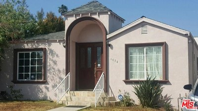 Los Angeles Single Family Home For Sale: 1636 Wellesley Avenue