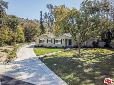 La Canada Flintridge Single Family Home For Sale: 5026 Hook Tree Road