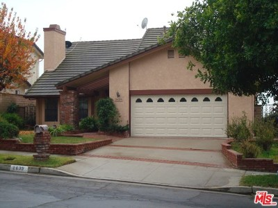 Burbank Single Family Home For Sale: 2639 Woodstock Lane