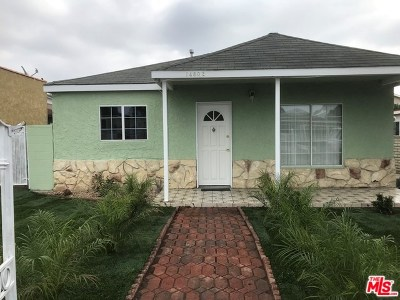 Lawndale Single Family Home For Sale: 14802 Firmona Avenue