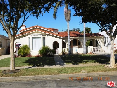 Inglewood Single Family Home For Sale: 3513 W 81st Street