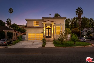 Encino Single Family Home For Sale: 17986 Valley Vista