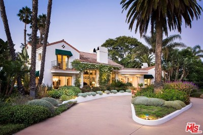 Santa Barbara County Single Family Home For Sale: 1428 E Valley Road
