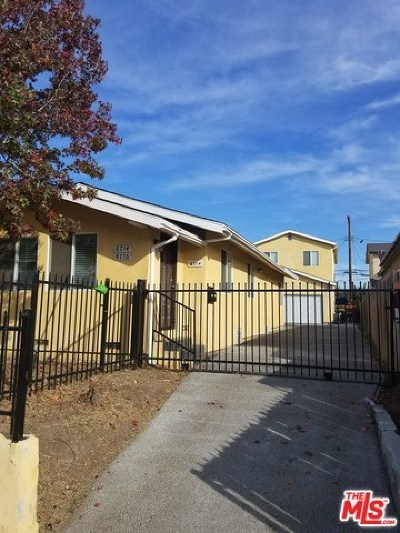 Los Angeles Multi Family Home For Sale: 8714 Orchard Avenue