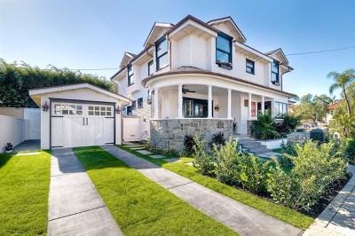 Coronado Single Family Home For Sale: 1302 8th St