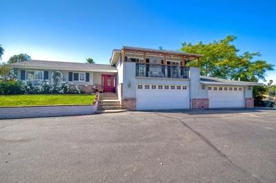 Vista Single Family Home Active Under Contract: 3160 Fruitland Dr