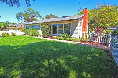 Encinitas Single Family Home For Sale: 1303 Hermes Ave