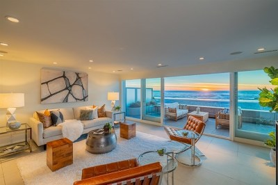 Del Mar Single Family Home For Sale: 2606 Ocean Front