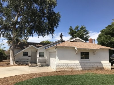 El Cajon Single Family Home For Sale: 1244 Navello Street