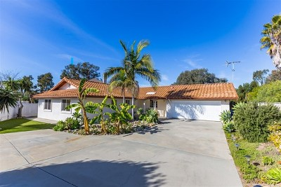 Oceanside Single Family Home For Sale: 1448 Faith Circle