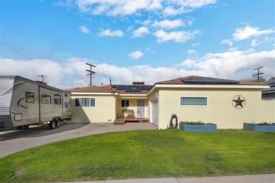 El Cajon Single Family Home For Sale: 600 Brockwood Dr
