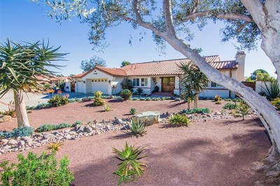 Escondido Single Family Home For Sale: 3249 Avenida Reposo