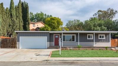 El Cajon Single Family Home For Sale: 941 Harry