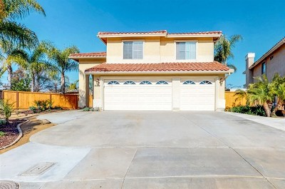 El Cajon Single Family Home For Sale: 3009 Cottonwood View Drive