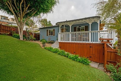 San Diego Single Family Home For Sale: 1601 Chalmers Street