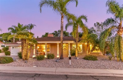 San Diego Single Family Home For Sale: 18115 Mirasol Drive