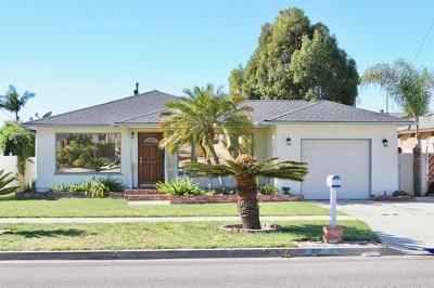 Oceanside Single Family Home For Sale: 1521 Stewart