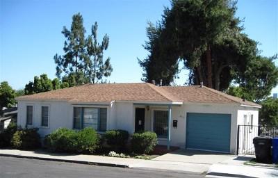 San Diego Single Family Home For Sale: 4316 Rodrigo Drive