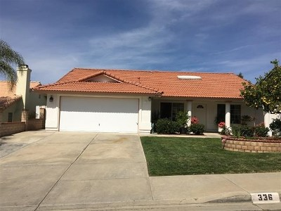 Fallbrook Single Family Home Active Under Contract: 336 Womack Lane